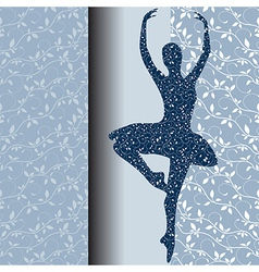 Ballet design card vector