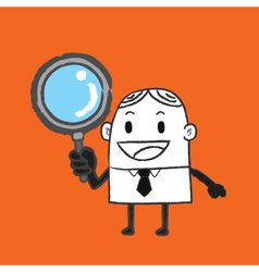 Business man search vector