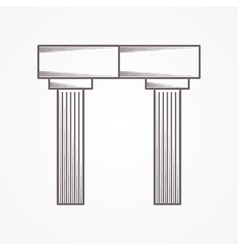 Icon for column arch vector