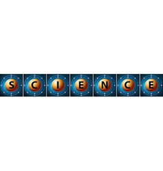 Letters forming the word science vector