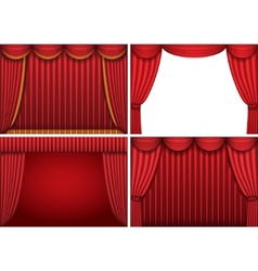 theater curtains vector image