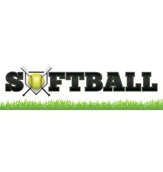 Softball Word vector image