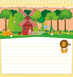 Paper design with farm theme vector
