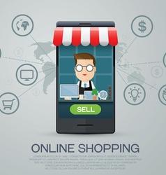 E commerce business shopping online vector