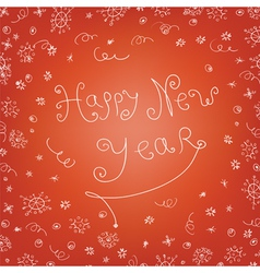 Handwritten new year vector