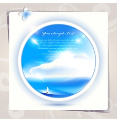 Blue sky and sea background or card art vector