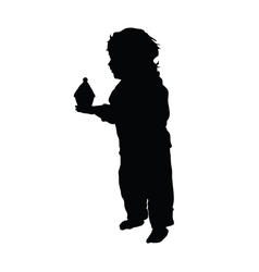 Child with muffin vector