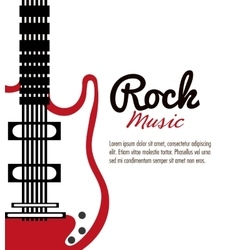 Electric guitar icon music instrument vector