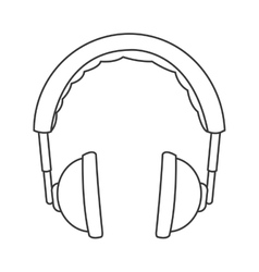Padded headphones icon vector