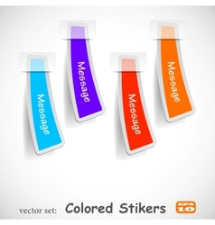 abstract colored sticker set vector image vector image