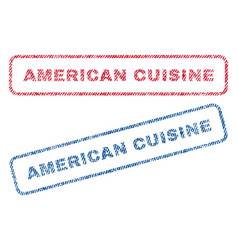 american cuisine textile stamps vector image vector image