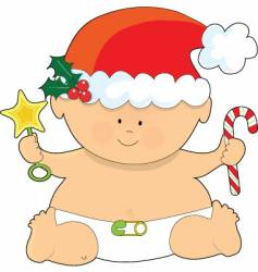 baby christmas vector image vector image
