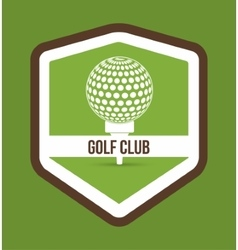 Ball of golf sport design vector