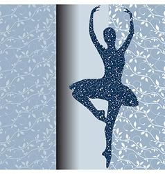 Ballet design card vector