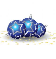 baubles and confetti vector image vector image