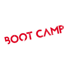 Boot camp rubber stamp vector