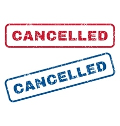 Cancelled rubber stamps vector