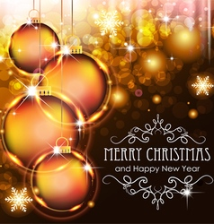 Christmas ball on a holiday background vector