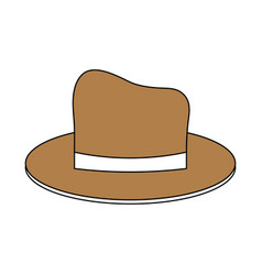 Classic casual hat icon image vector