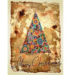 dirty ornamental christmas design vector image