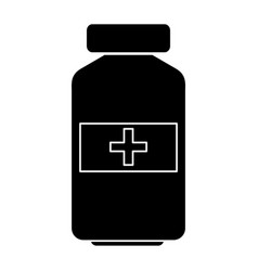 Drugs bottle isolated icon vector
