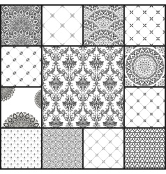 Eastern backgrounds seamless patterns vector