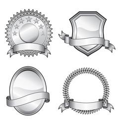 emblem badges vector image