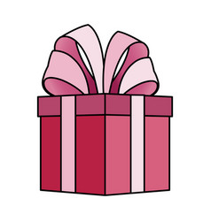 giftbox with big bow on top icon image vector image vector image