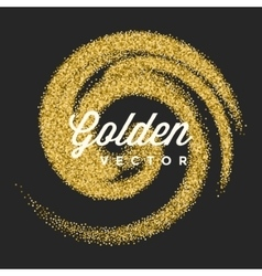 Gold Glitter Sparkles Bright Confetti vector image vector image