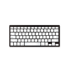 grey plastic keyboard with white buttons vector image