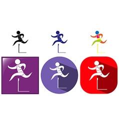 Icon design for hurdles vector image vector image