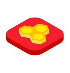 Isometric honeycomb icon beekeeping concept vector