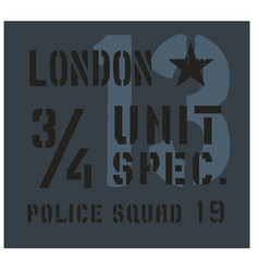 London military plate design vector