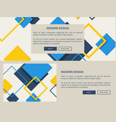 modern design web page light vector image