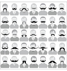 Moustaches set mustache icons vector image vector image