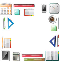 office tools background vector image