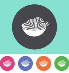 Pasta icon vector