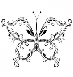 patterned butterfly vector image vector image