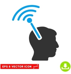 Radio neural interface eps icon vector
