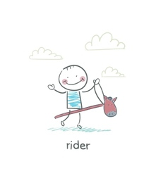 Rider on a horse toy vector image vector image