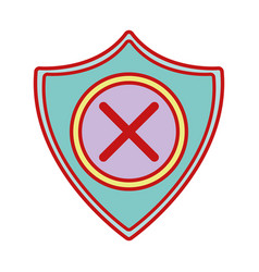 security shield to technology protection icon vector image