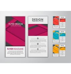 Set of colored flyers material design vector image