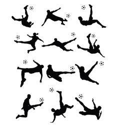 soccer football player super kick vector image