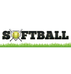 Softball word vector