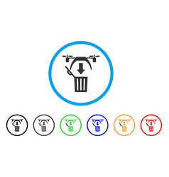 trash drone rounded icon vector image