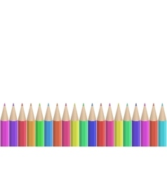 Seamless colored pencils row vector