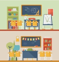 Classroom for literature and mathematics vector image