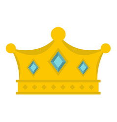 Prince crown icon isolated vector