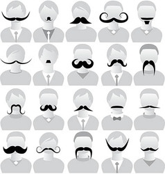 Moustaches set mustache icons vector
