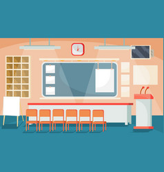 Flat of a business interior - vector